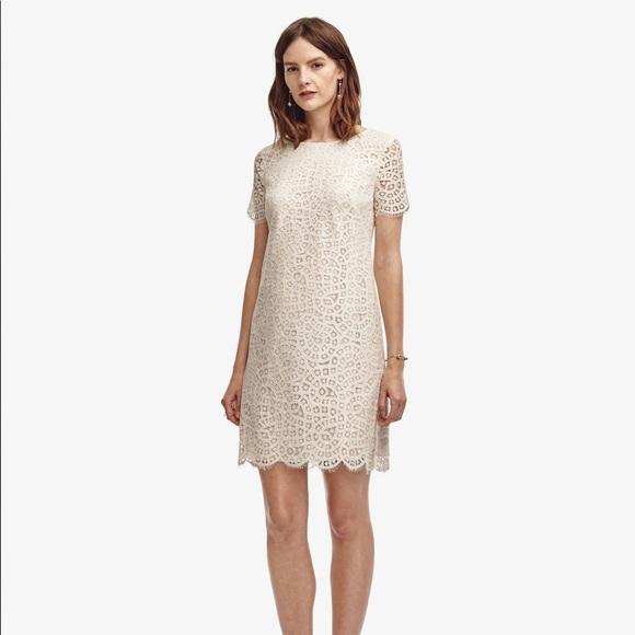 e3336ba00e Ann Taylor Dresses | Winter White Lace Tshirt Dress | Poshmark